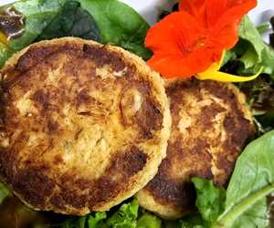 We load our crab cakes with crab (not fillers) because that's how we like them!